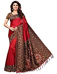 Indira Designer Women's Art Mysore Silk Saree With Blouse Piece (Star-Red)