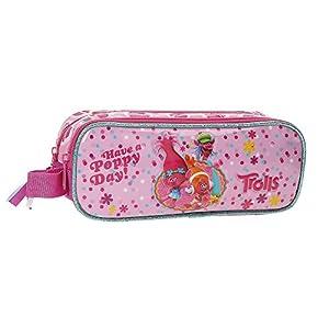 Trolls Happy Neceser de Viaje, 23 cm, 1.45 litros, Rosa