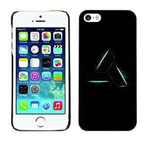 Omega Covers - Snap on Hard Back Case Cover Shell FOR Apple iPhone 5 / 5S - Triangle Art Shape Symbol Sign Black