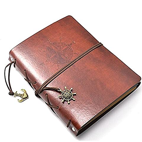 wanruisi Vintage Retro Leder Cover handgefertigt selbstklebend DIY Hochzeit Jahrestag Tagebuch Fotoalbum Scrapbook (Personalisierte Leder Geschenke Für Ihn)