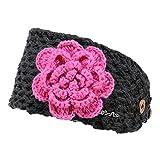 Barts Mädchen Stirnband Rose Headband Dark Heather (Dunkel Grau), Größe:Kindermützen Größe 53