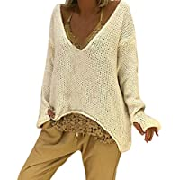 TWBB Damen Mantel,Winter Einfarbig Gestrickter Pullover Parka Outwear Langmantel Strickjacke Strickpullover Langarm Sweatshirt
