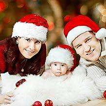 DaoRier 1pc Tradicional Sombrero Nuevo para Celebraciones y Recreación Santa  hat Disney Rojo Blanco Sombrero Santa b3f60c1f2e6