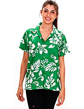 Original King Kameha   Funky Camisa Hawaiana   Mujeres   XS - 6XL   Manga Corta   Bolsillo Delantero   impresión...