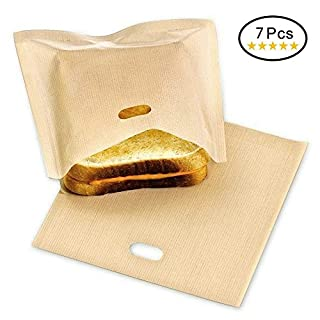Anano Toaster Bag (Set of 7) Non-Stick Toast Bag Reusable Sandwich Snack Toast Bags-Size:17 * 19cm