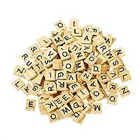 Harlington Group 200Pcs Wooden Alphabet Scrabble Tiles Letters Numbers Children