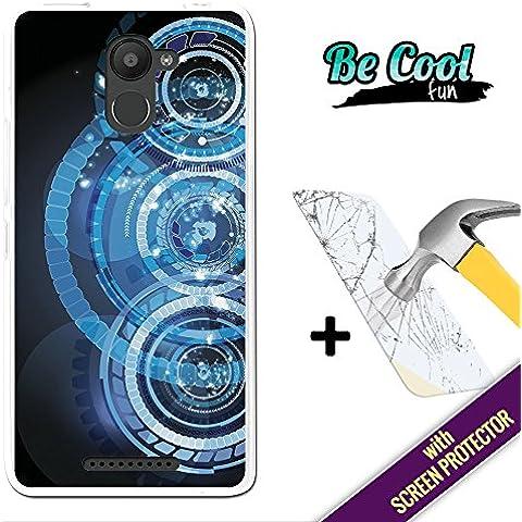 Becool® Fun - Funda Gel Flexible para Bq Aquaris U Plus, [ +1 Protector Cristal Vidrio Templado ] Carcasa TPU fabricada con la mejor Silicona, protege y se adapta a la perfección a tu Smartphone y con nuestro exclusivo diseño. Círculos
