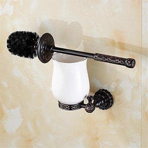 Allinme Europäische Schwarze Badezimmer Handtuch Set Toilettenbürstenhalter Massivem Kupfer Badezimmer Badezimmer American Hardware Anhänger