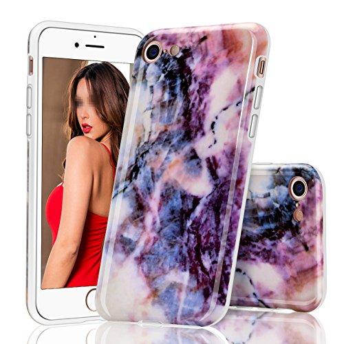 iPhone 6 Plus Hülle, iPhone 6S Plus Marmor Hülle, Vandot TPU Silikon Weich Marble Schutzhülle für iPhone 6+ 6S+ Plus Protective Handy Case Cover[Non Slip, Ultra Thin Slim] Glänzend Soft Handyhülle Sch Muster 10
