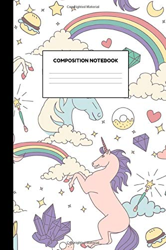 Composition Notebook: College Ruled Blank Lined Journal Paper Notebook - Workbook for Students, Kids, Teens and Women - Nifty Unicorn School Supplies for Girls - Writing Notes, Drawing and Doodles (Für Laptop-bundle Studenten)