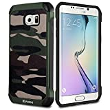 Epxee Samsung Galaxy S6 Edge Hülle, Silikon Handyhülle Schwarz TPU Bumper Cover Schutzhülle für Samsung Galaxy S6 Edge Case - Camouflage