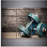 Moderne Poster Modulare Malerei 3 Stücke HD Gedruckt Hanteln Fitness Bodybuilding Gym Leinwand...