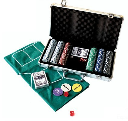 Professionelle Poker-Set mit 300 Chips