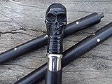 Bone Totenkopf Griff Vintage Stil Holz Gehstock STICK Designer Viktorianischer