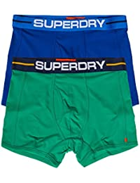 Superdry Sport Boxer Shorts Underwear Double Pack Regal Blue/Bright State Green