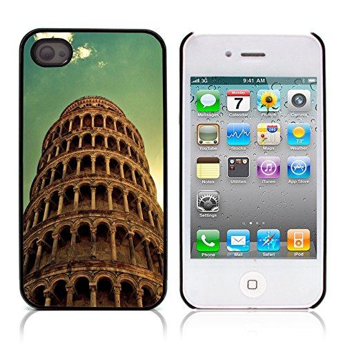 Graphic4You Manarola Italy Postkarte Ansichtskarte Design Harte Hülle Case Tasche Schutzhülle für Apple iPhone 4 und 4S Pisa Tour