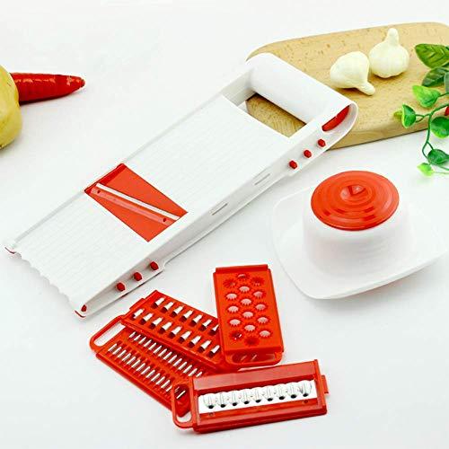 Mandoline Gemüseschneider Küche Gemüse Scheibe Werkzeug 5 Spezies Gemüsehobel Rostfreier Stahl Klingen Mehrzweck Reibe Schneiden