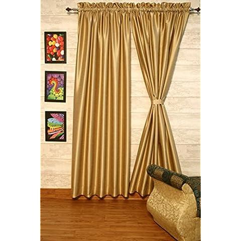 Beige cortinas satén de seda Dupioni sintética, elección de piezas, anchura y longitud elección con forros opacos por zappycart., 78