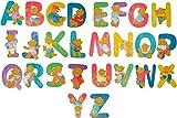 Bieco 23021930 - 26 Holzbuchstaben A - Z mit Bär - Motiven, ca. 10 cm