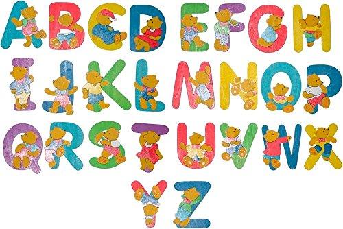 Bieco legno stencil Design A-Z 26 pcs orsetto