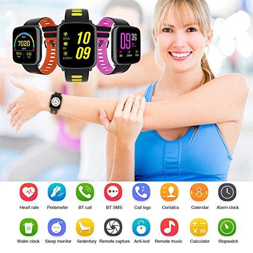 Herzfrequenzsensor Smart IP68�Wasserdicht Lange Standby-Smart Schwimmen Herzfrequenz Watch Bluetooth Watch