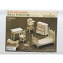 Casa De Muñecas Madera Muebles De Bebés Kit 1:12 escala 6 años+