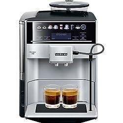 Siemens EQ.6 Plus s300 TE653501DE Kaffeevollautomat (1500 Watt, Keramik-mahlwerk, Touch-Sensor-Direktwahltasten, personalisiertes Getränk) silber Kaffeevollautomat