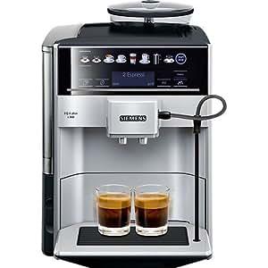 Siemens EQ.6 Plus s300 TE653501DE Kaffeevollautomat (1500 Watt, Keramik-mahlwerk, Touch-Sensor-Direktwahltasten, personalisiertes Getränk) silber
