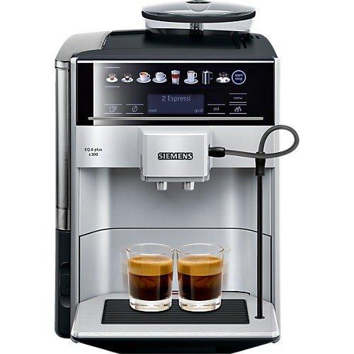 eq6 plus s700 Siemens EQ.6 Plus s300 TE653501DE Kaffeevollautomat (1500 Watt, Keramik-mahlwerk, Touch-Sensor-Direktwahltasten, personalisiertes Getränk) silber