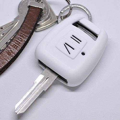 lle Auto Schlüssel für Opel Zafira A Astra G Zündschlüssel Vauxhall Remote/Farbe Weiß ()
