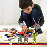 Epoch Air Dinosaur Building Blocks, Kids Dinosaur Play Figure Toys Sets 8PCS, Mini Dino Construction Playsets Animal Educational Kits Presents for Boys Girls Toddlers Party Decoration