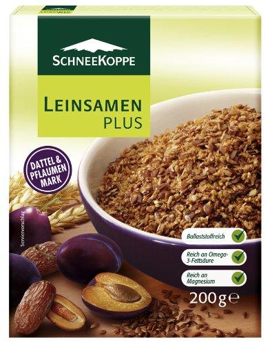 Schneekoppe Leinsamen Plus, 6er Pack (6 x 200 g Packung)