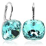 Ohrringe mit Kristallen von Swarovski Türkis Silber NOBEL SCHMUCK