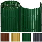 SolVision Canisse en PVC Haie Brise-vue Jardin Terrasse Balcon Protection Regards Vent Soleil 80x500cm - Vert