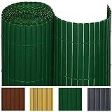 SolVision Canisse en PVC Haie Brise-vue Jardin Terrasse Balcon Protection Regards Vent Soleil 90x300cm - Marron