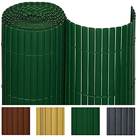 Canisse Bambou 3x1 5m - SolVision Canisse en PVC Haie Brise-vue Jardin