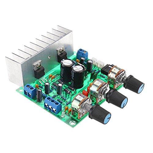 ILS - TDA2030A DC 12V 30W + 30W Dual Channel Endverstärkerbrett Volume Control Preamp Integrierte Schaltungen Brett 3,5-mm-Stereo-Schnittstelle