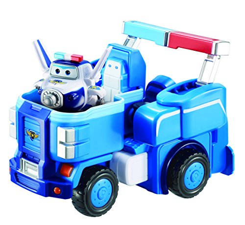 "Super Wings - Paul Super Robot Suit Large Transforming Vehicle (For Use With 5"" Figures) + Figure"