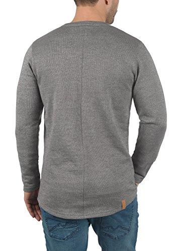 REDEFINED REBEL Matthew Herren Sweatshirt Pullover Sweater aus 100% Baumwolle Meliert Antracit Mel.