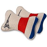 System-S–1x cuscino cervicale auto testa cuscino poggiatesta Torre Eiffel Francia Style - Eiffel Lino