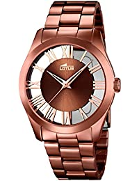 reloj lotus ref 18125/1 acero color cobre esf transparente con brazalete
