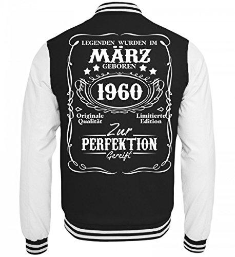 Hochwertige College Sweatjacke - Legenden März Geburtstag Geschenk 1960 (1960 S Jacke Damen)