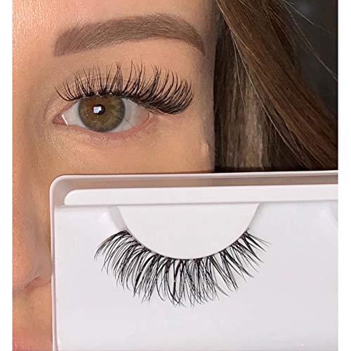 a7d34dc7296 Marior False Lashes aus faux Mink natürliche künstliche Wimpern mit dünnem  transparentem Wimpernband ein paar 3D
