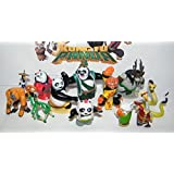 Kung Fu Panda Mini Figure Toy Set of 13 with the Furious 5, Evil Spirit Kai, Po, Master Shifu, Mr. Ping, New Pandas and More! by Kung Fu Panda