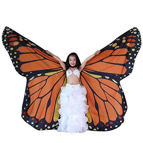 Dasongff Kinder Bauchtanz Flügel Bauchtanz Isis Wings mit Sticks für Kind Baby Mädchen Bauchtanz Kostüm Engelsflügel Schmetterlingsflügel Leistung Kostüm spaß Darstellende Künste