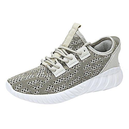 QMBER❤ Turnschuhe Herren,Herren Fashion Color atmungsaktive Mesh Crossover Krawatte Sneakers Schuhe Schuhe (42 EU, Khaki)