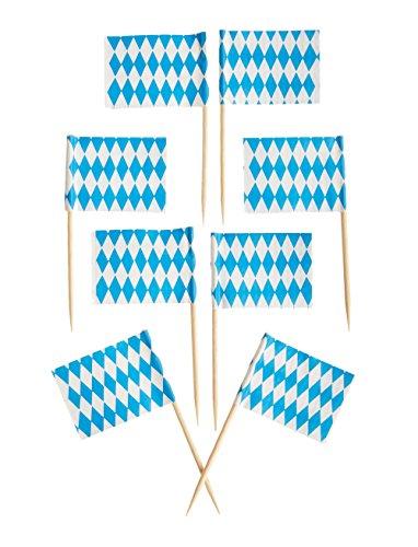 Trauben-wand-dekoration (Kogler, dekorative Zahnstocher im Bayern-Design, Holz, Blau/Weiß, 30x 30x 7cm, 50Stück)