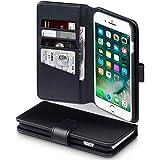 Coque Cuir iPhone 8 Plus / iPhone 7 Plus, Terrapin Étui Housse en Cuir Véritable pour iPhone 8 Plus Case - Noir