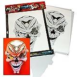 SCHNEIDMEISTER Stencil Airbrush Schablone Pierced Skull, ca. A4, SM-HBSM20