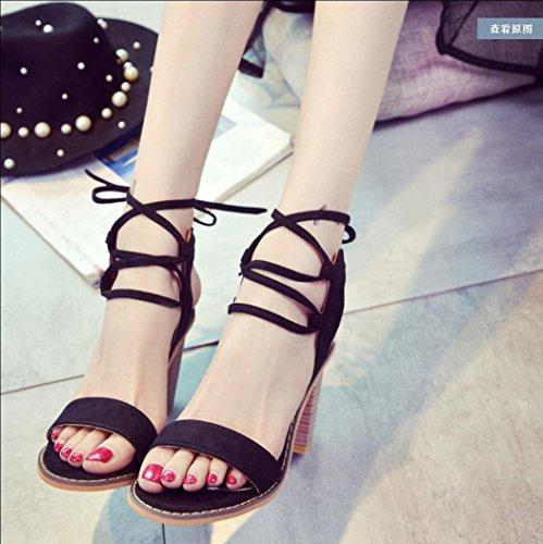 Les nouvelles Mme sandales occasionnels Mme talons fines avec des chaussures à talons hauts creux 39
